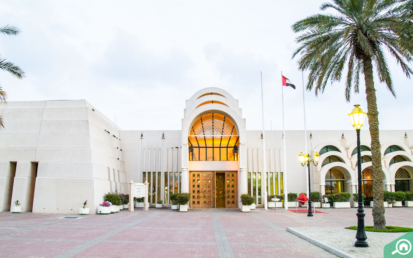 Sharjah Science museum facade and main gate