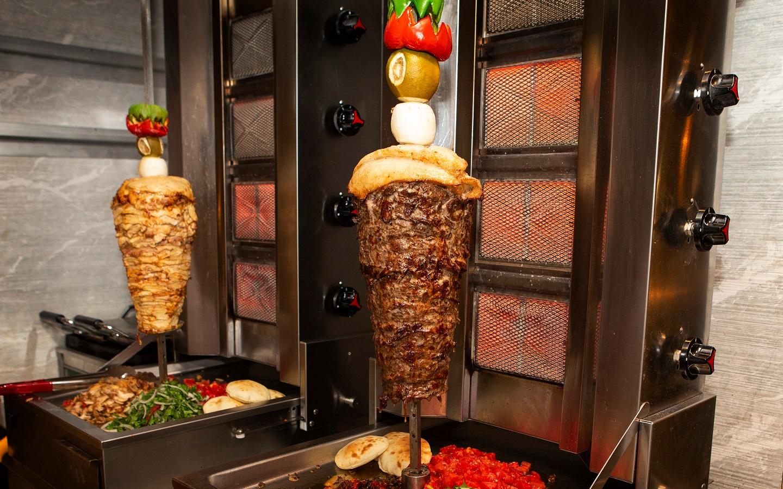 Shawarma grill in Dubai