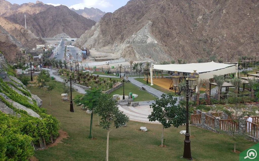 View of Shees Park in Khor Fakkan