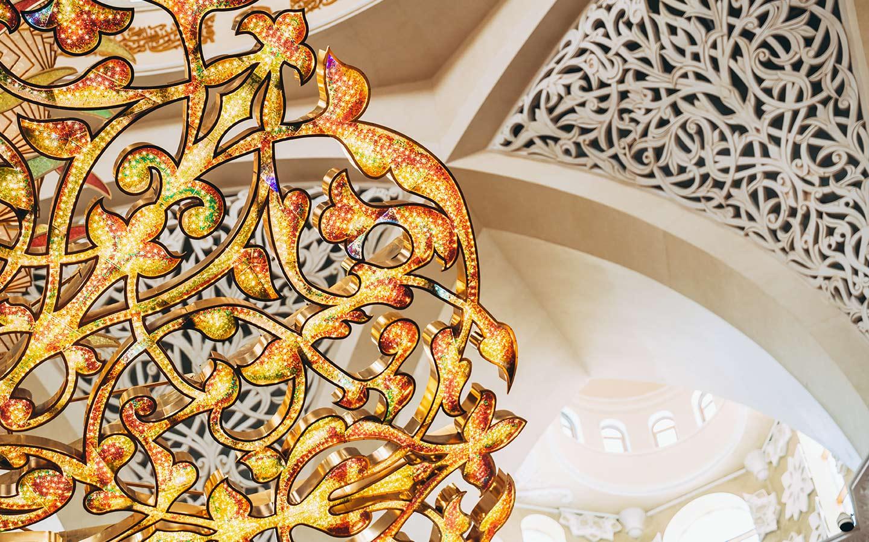 التفاصيل والزخرفات في مسجد الشيخ زايد أبوظبي