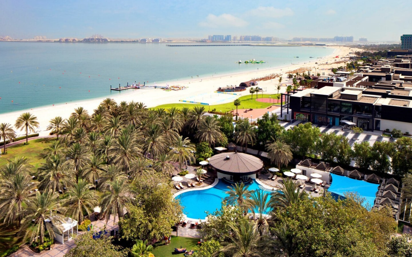 View of Sheraton JBR beach and facilities, one of the top JBR hotels with private beach