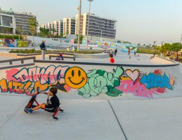 DAMAC Hills skatepark in Dubai