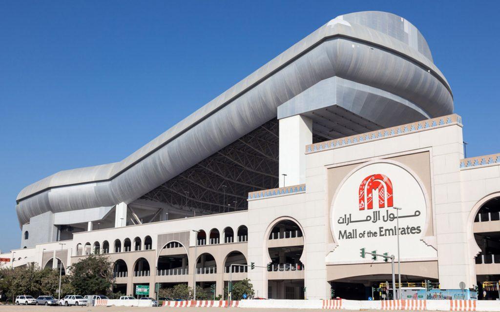 exterior of Ski Dubai in Mall of the Emirates