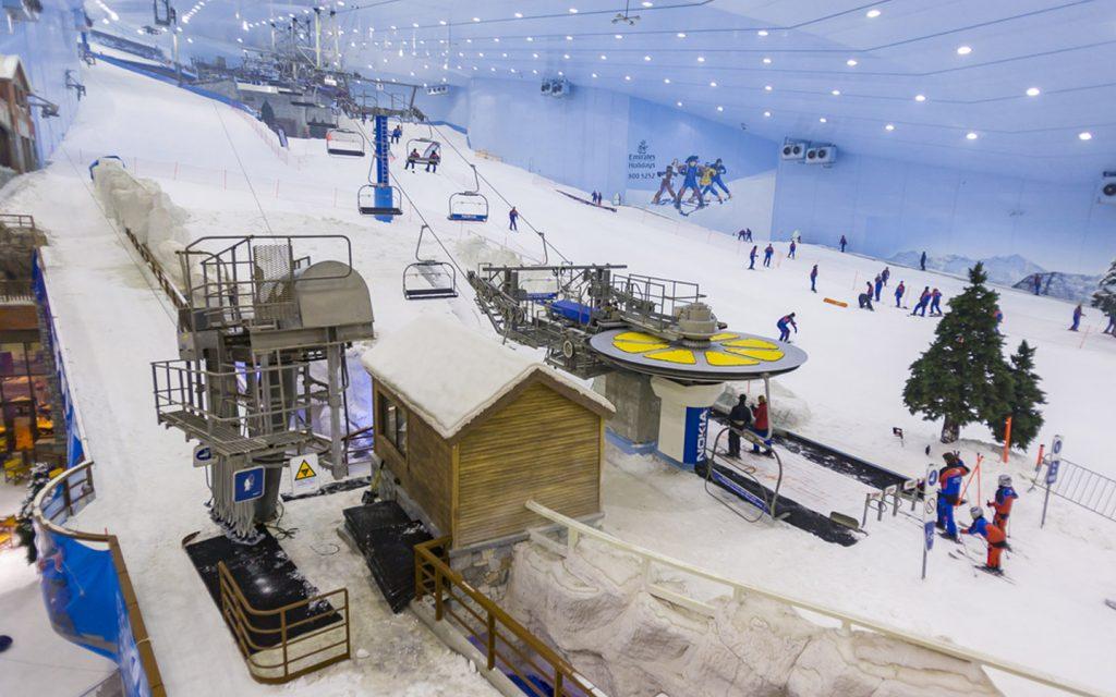 the slops in ski Dubai