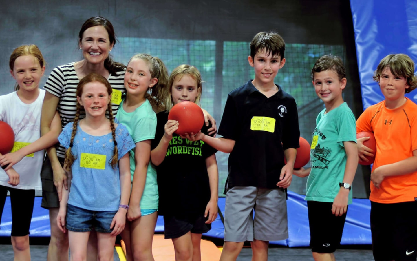 View of kids at Sky Zone Dubai summer camp