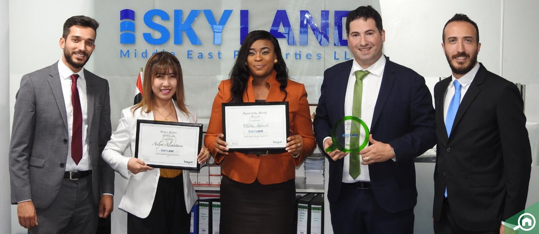 أبوظبي: سكاي لاند الشرق الأوسط للعقارات تفوز بجائزة الوكالة المثالية لشهر مارس 2019