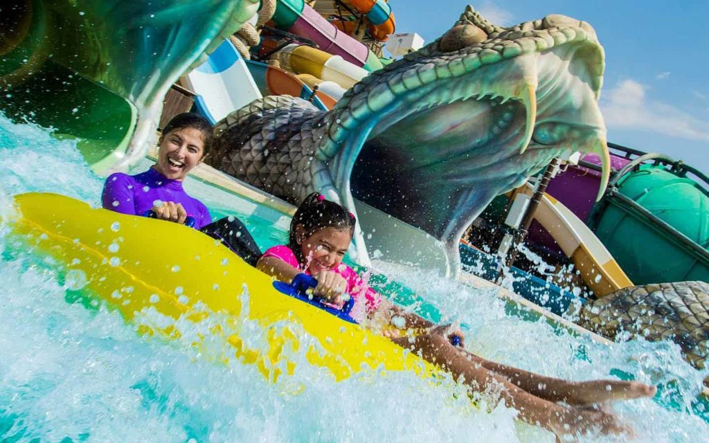 Slithers Slide at yas waterworld