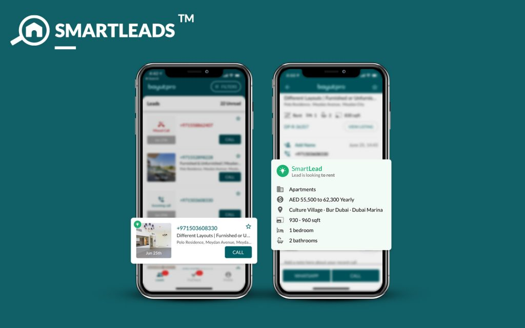 SmartLeads is one of the new features in Bayut Pro