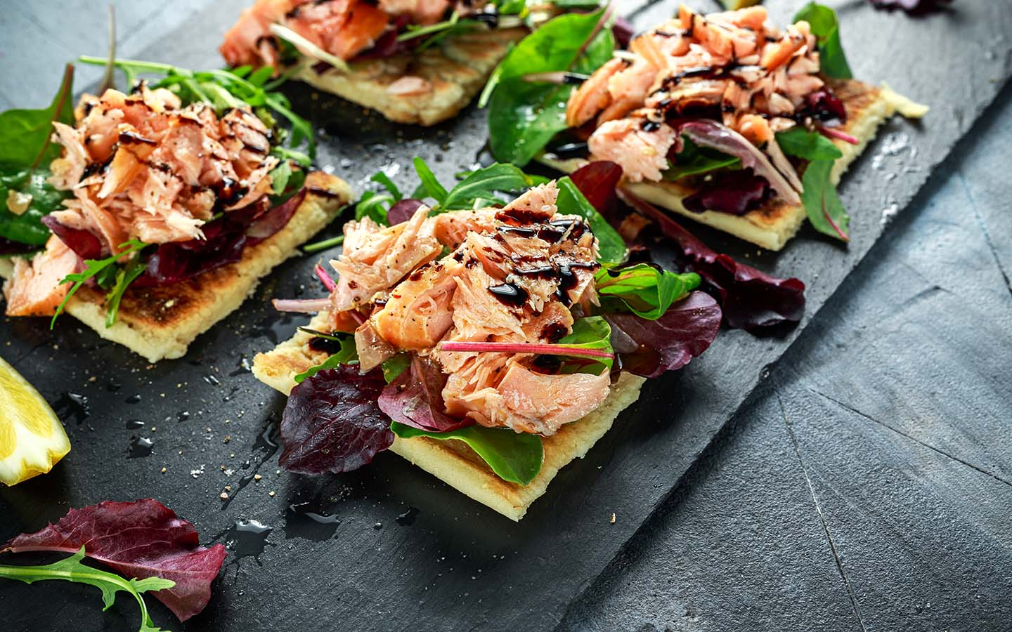 Smoked Salmon and salad bites