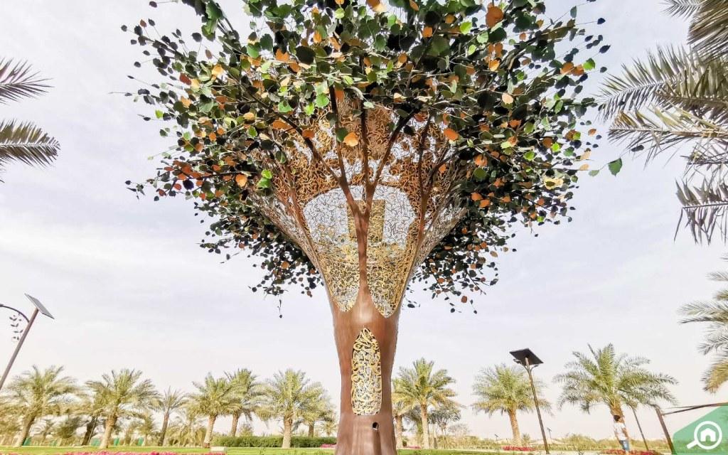 Solar Panel Trees in Al Quran Park Dubai
