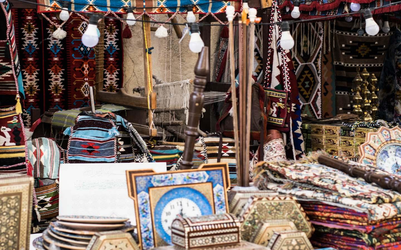 Products on sale at a souvenir shop