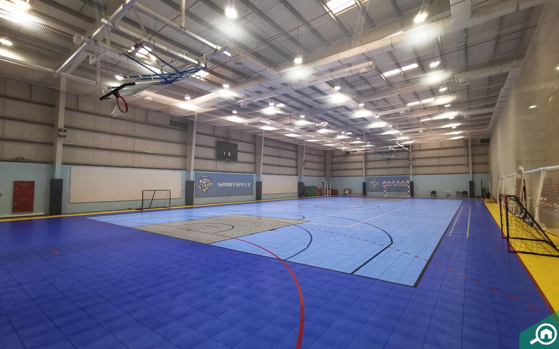 Sportsplex basketball court