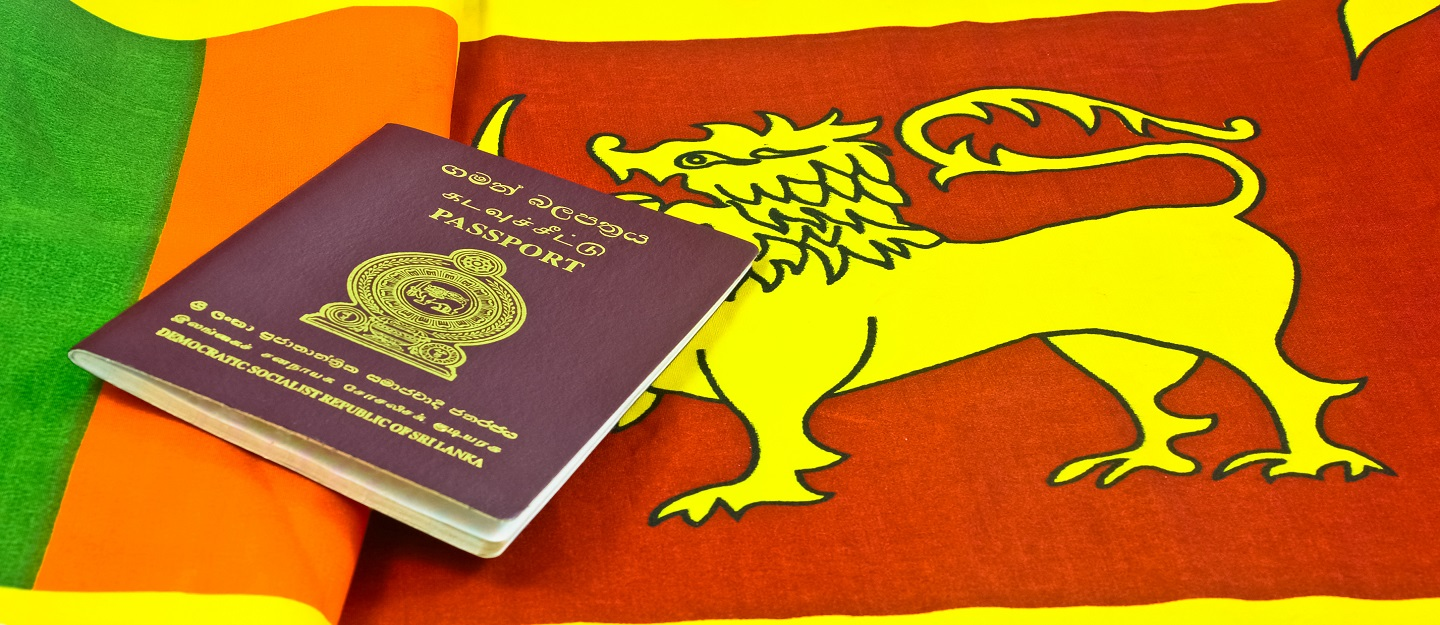Sri Lankan Flag & Passport