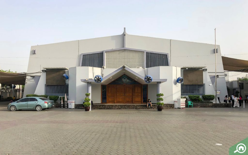 External view of the St Mary's Church in Dubai