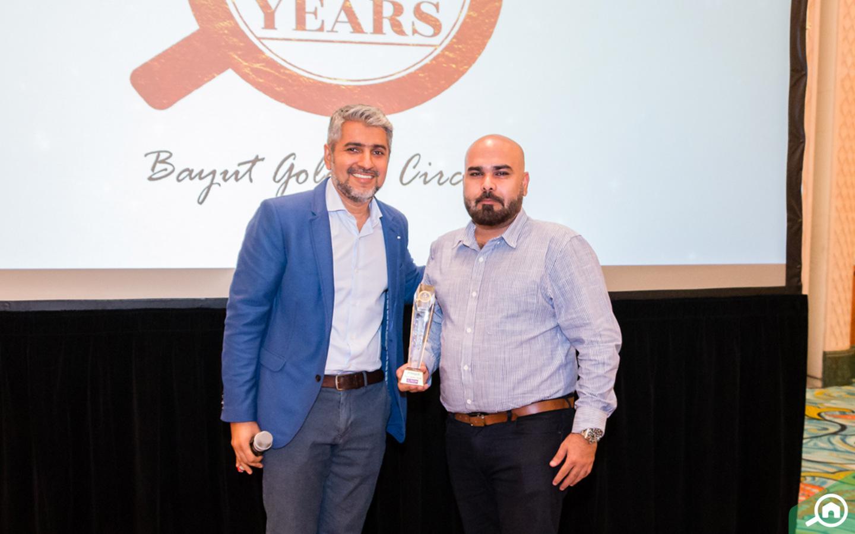 St. Clair Real Estates receiving the Golden Circle award at the Bayut Iftar