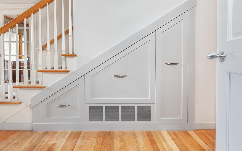 Staircase storeroom design