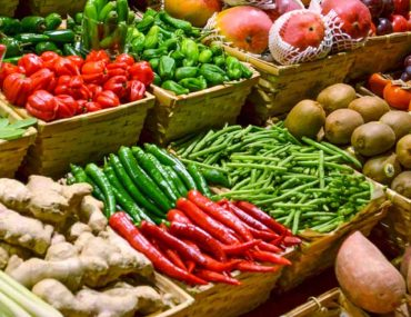 Stall at Central fruits and vegetable market in Dubai