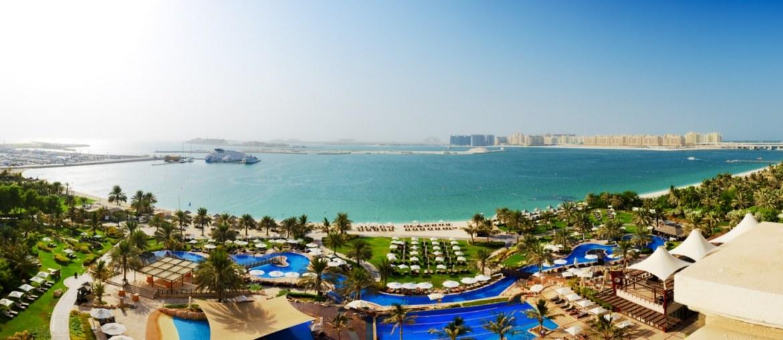 Aerial View of Beach in Dubai