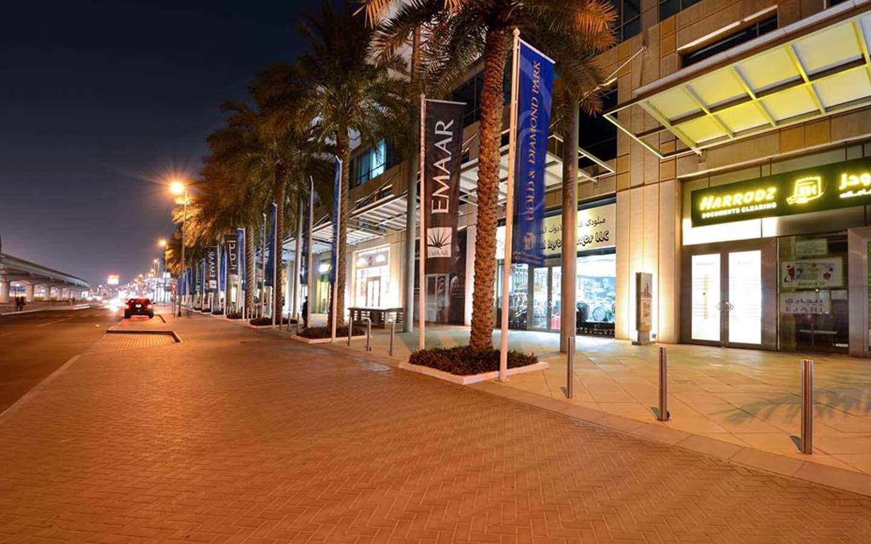 Street view of the Dubai Gold and Diamond Park