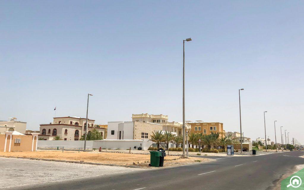 Street view of Abu Dhabi Khalifa City villas