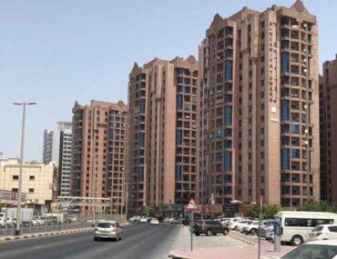 Apartment buildings in Ajman