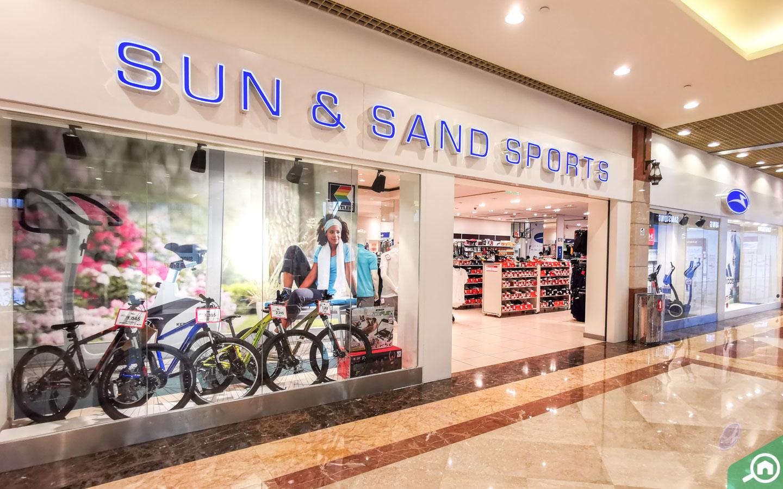 Sun & Sand and sports Shop at Khalidiyah mall