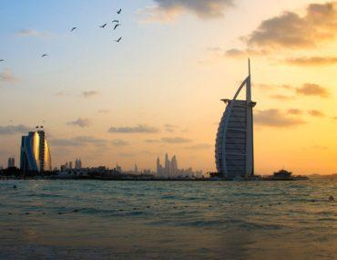 Umm Suqeim Beach Dubai at sunset