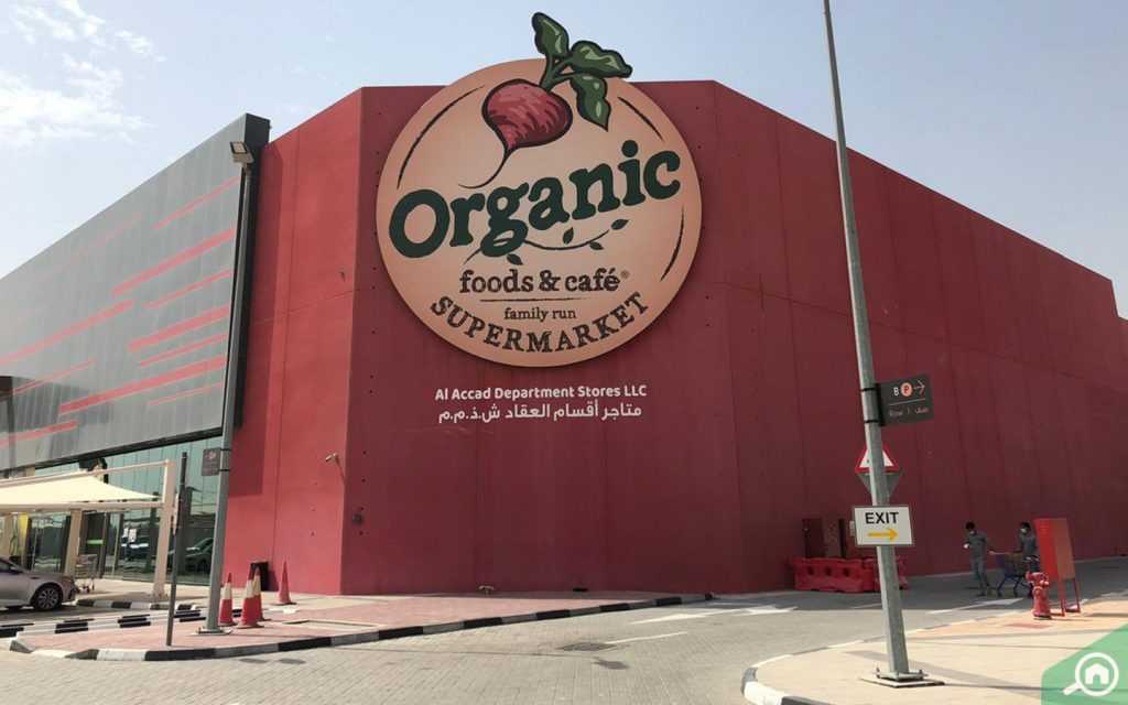 Main facade of Organic Foods and Cafe