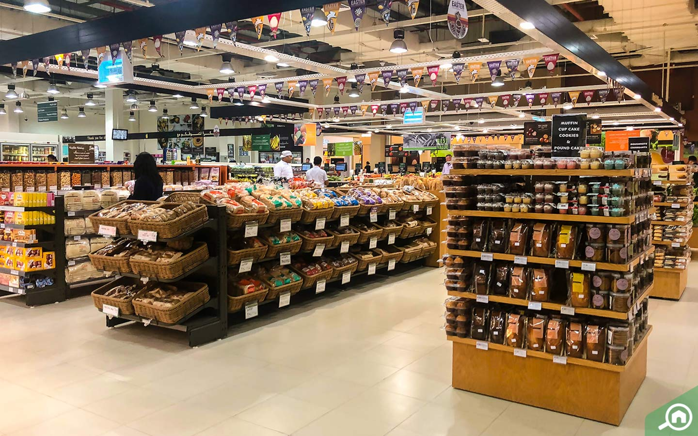 Bakery section of Spinneys Supermarkets in Dubai Silicon Oasis