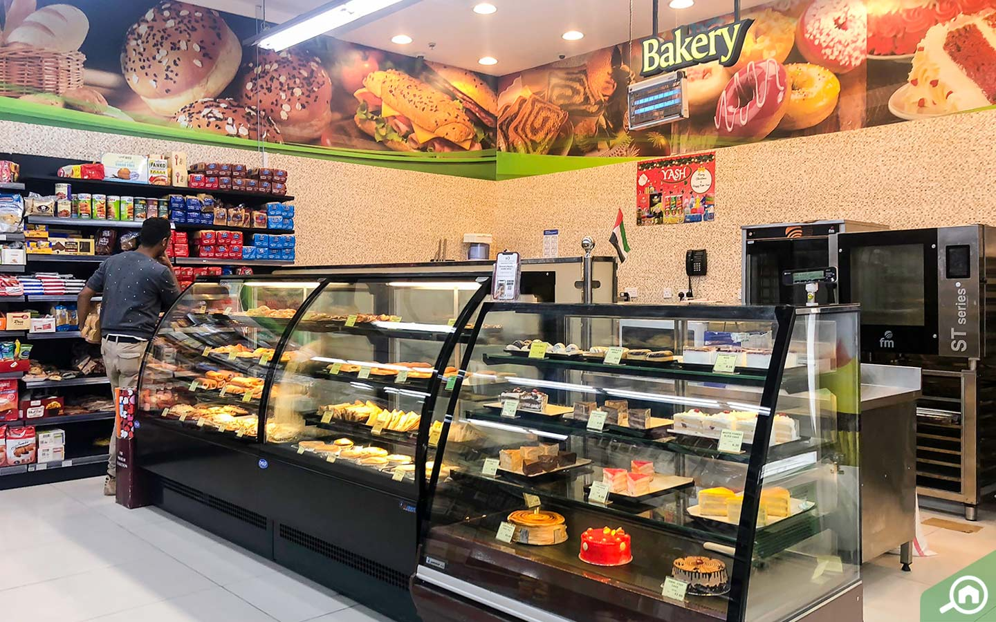 Bakery section in West Zone Supermarket Dubai Silicon Oasis