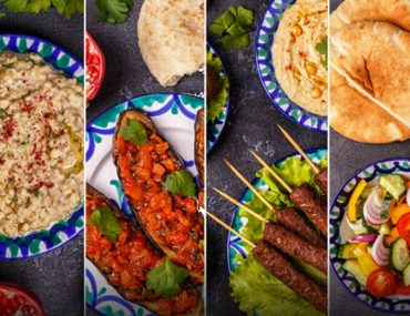 A collage of various dishes from the top Syrian restaurants in Dubai