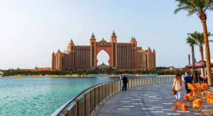Waterfront view of Palm Jumeirah