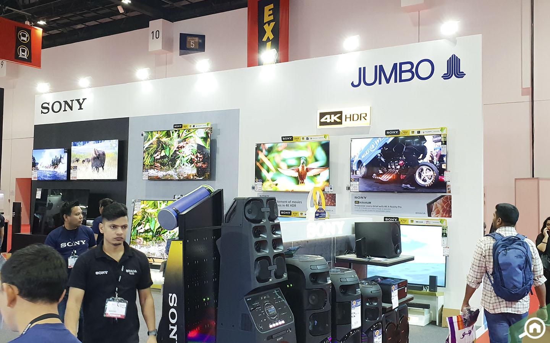 Jumbo and Sony TVs at GITEX 2019 Dubai