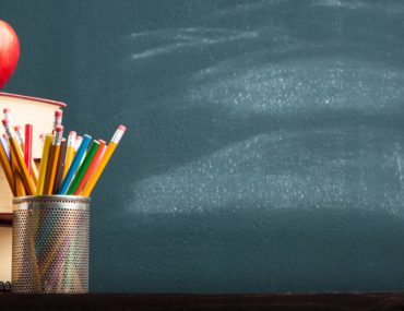 Black board, books and stationary