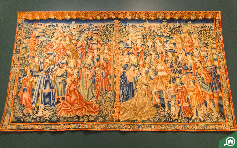 Tapestry in Louvre Abu Dhabi