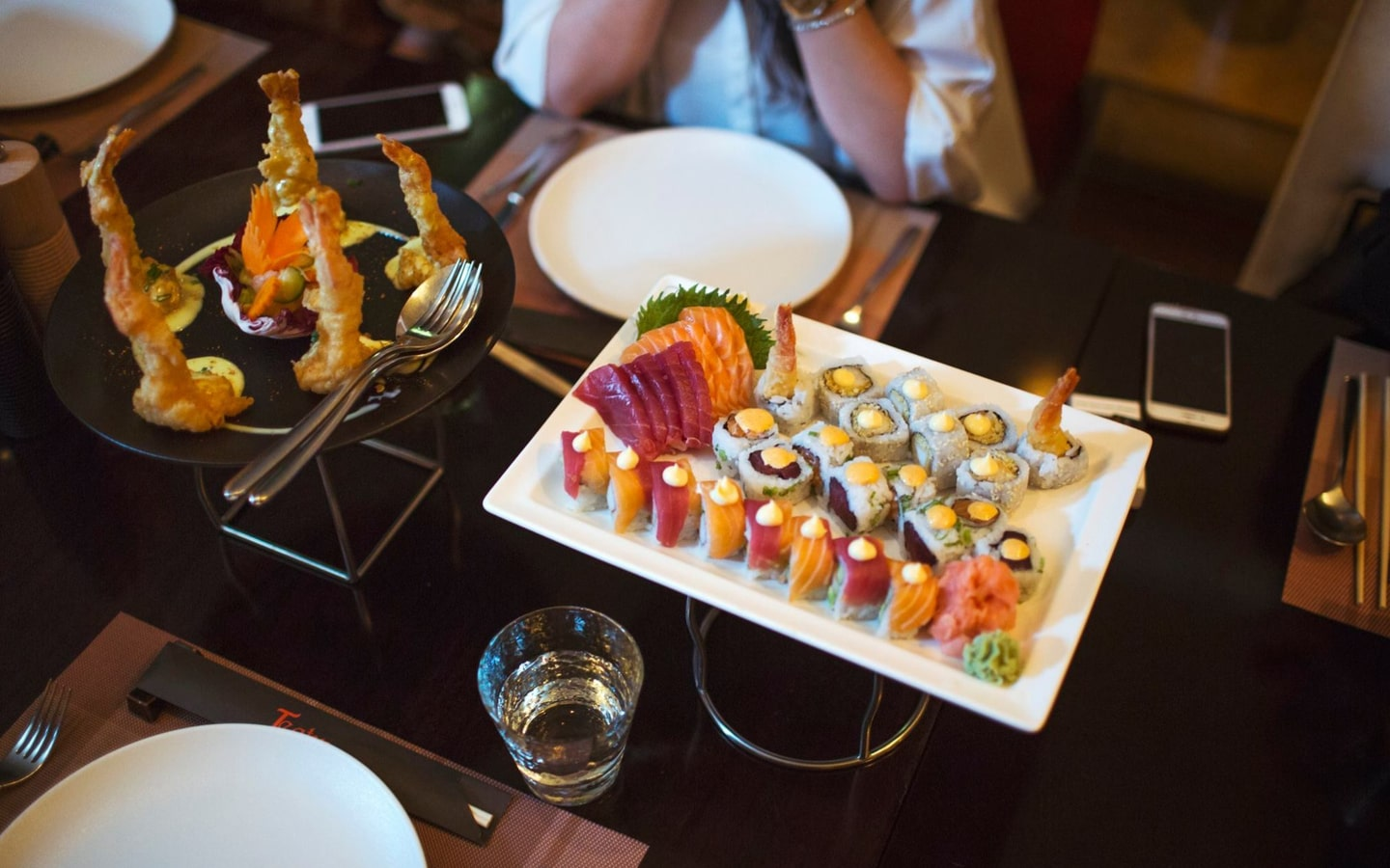 Plate of sushi rolls at Teatro restaurant, one of the best Chinese restaurants on Sheikh Zayed Road