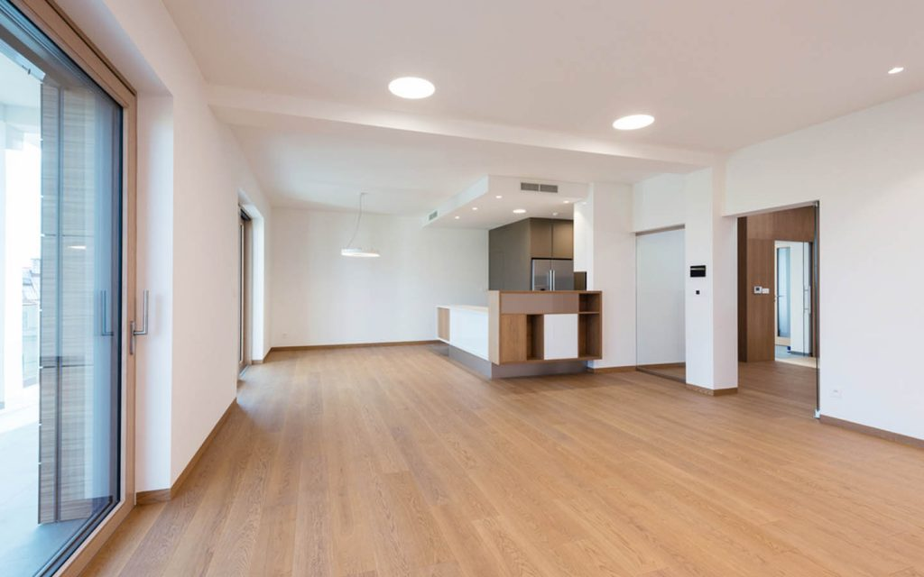Clean and empty house given to the tenant, as per tenant law in Dubai