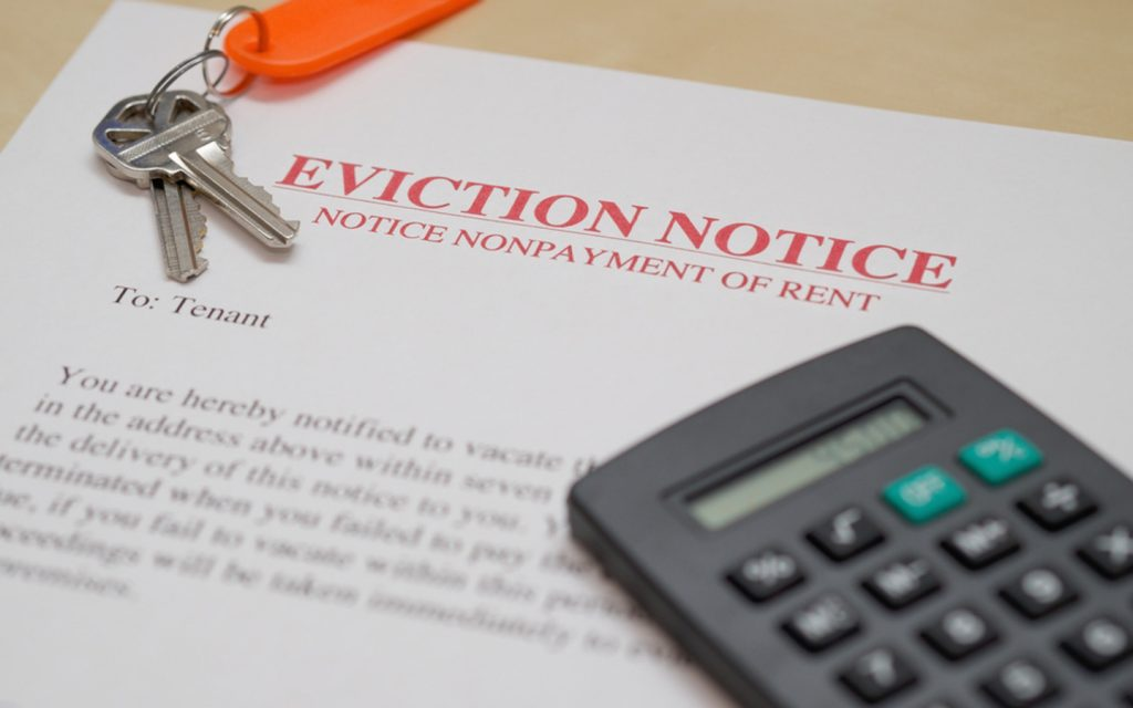 eviction notice for tenant, as per the tenancy law in Dubai