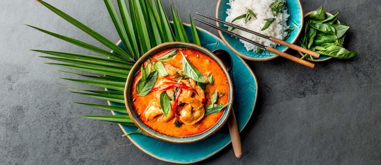 Thai food served traditonally