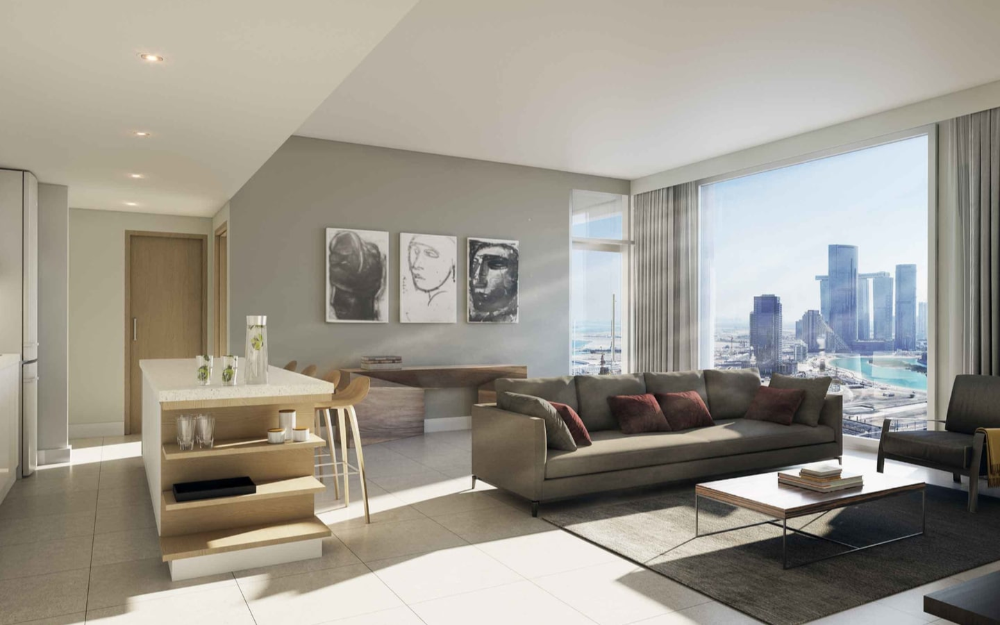 View of apartments in The Bridges ALDAR, an off plan property