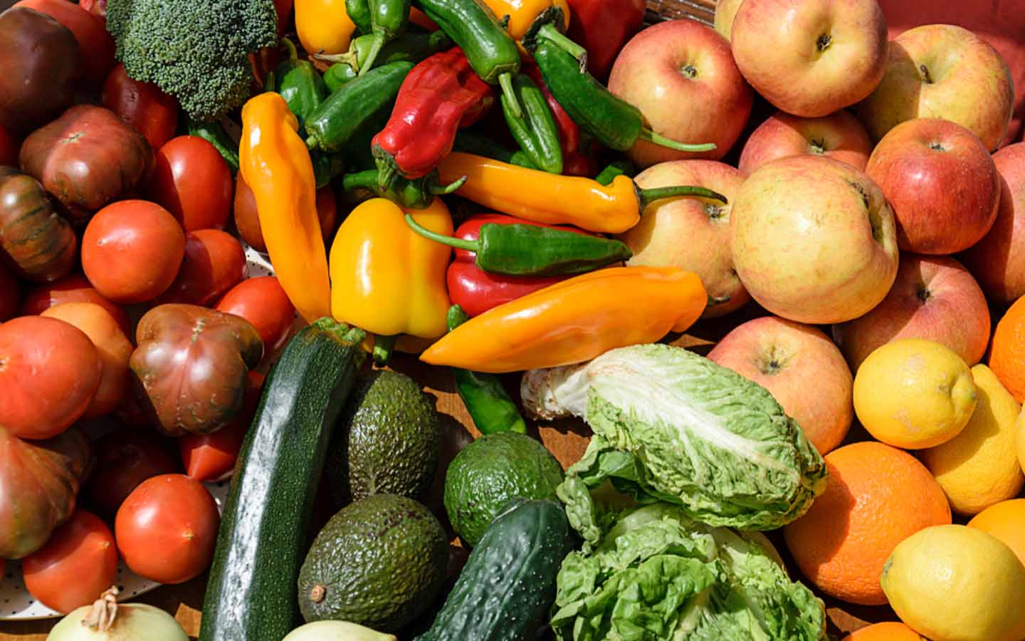 The Central fruits and vegetable market has a large variety of fresh produce