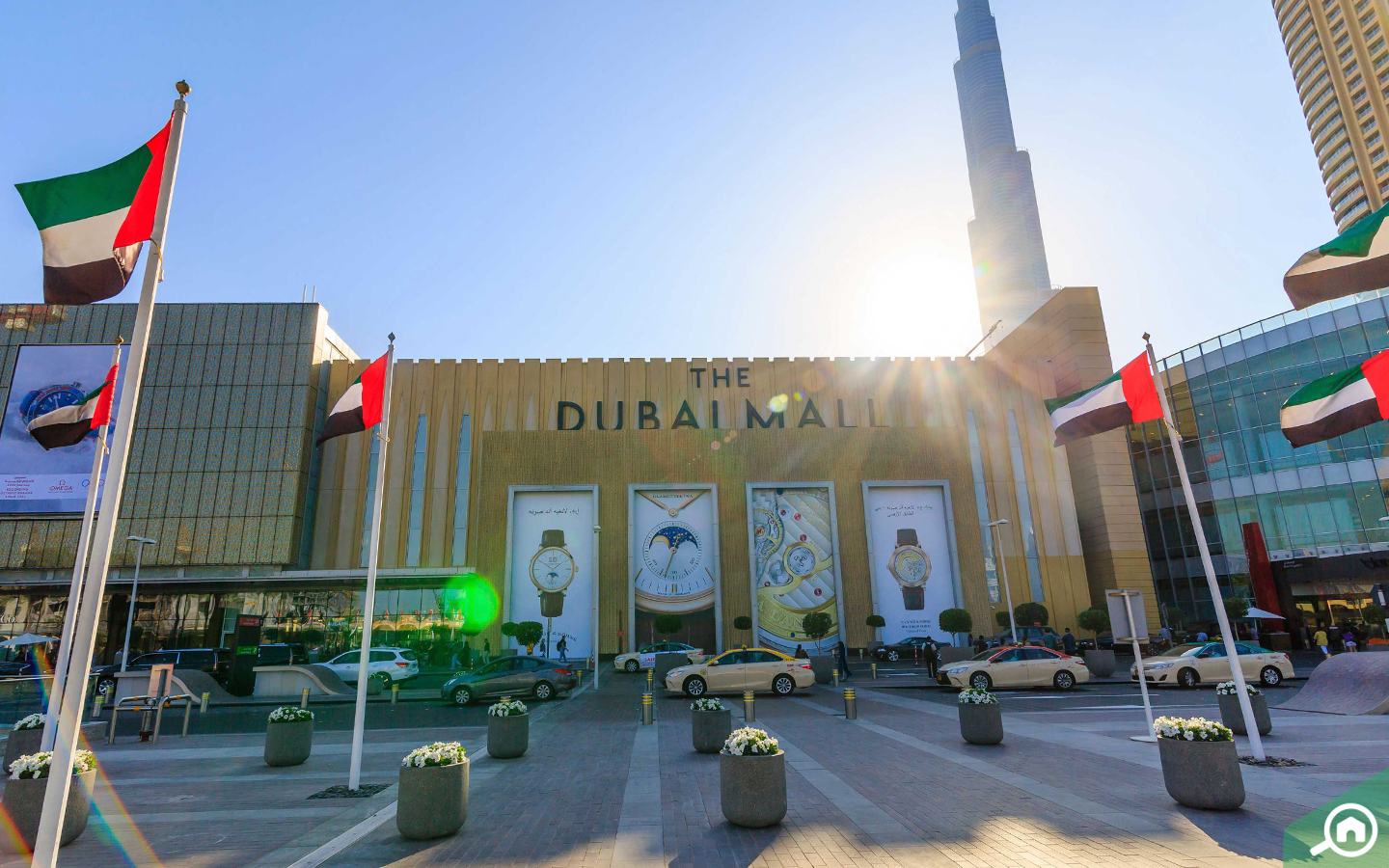 front view of The Dubai Mall