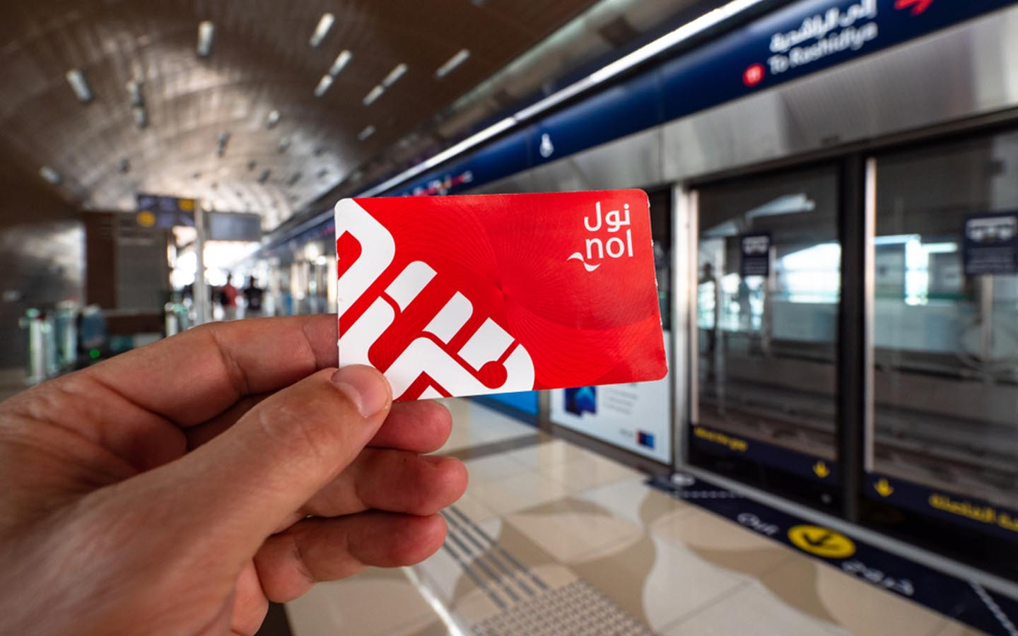 The RTA Red Nol card in Dubai