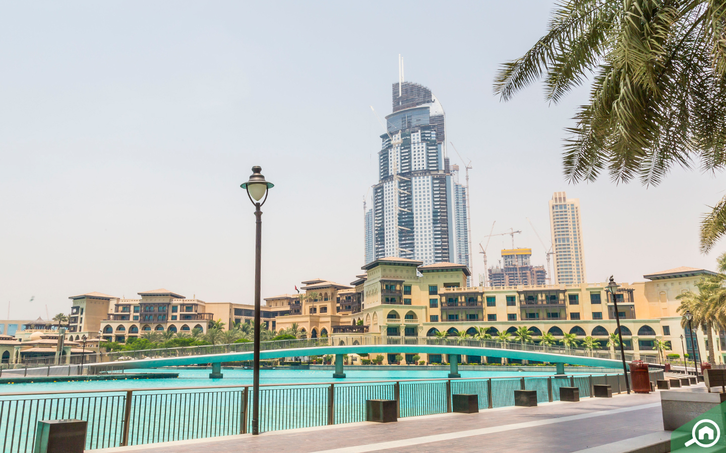 View of the Burj Khalifa Lake and Old Town