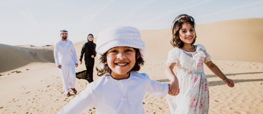 Emirate family with kids vacationing