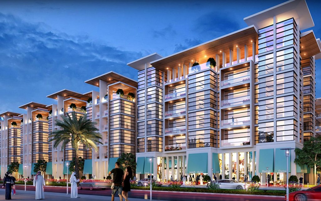 3D rendition of apartments in Tilal City