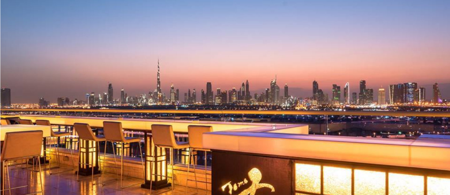 Tomo Rooftop Restaurant in Dubai