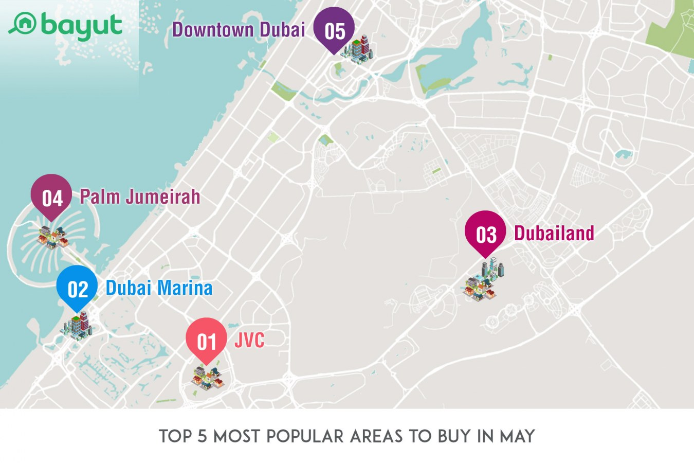Dubais most popular areas to rent and buy in may with so many glitzy and glamorous apartments for sale in downtown dubai it is no surprise that this area appeared on mays top 5 list of most popular areas gumiabroncs Images
