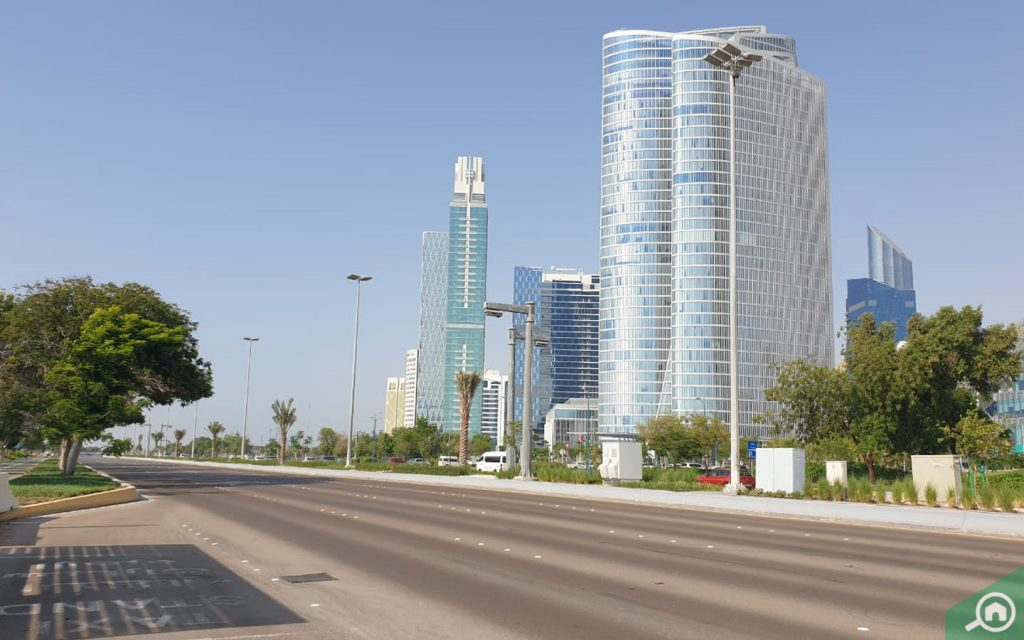 View of apartments at Corniche Road Abu Dhabi