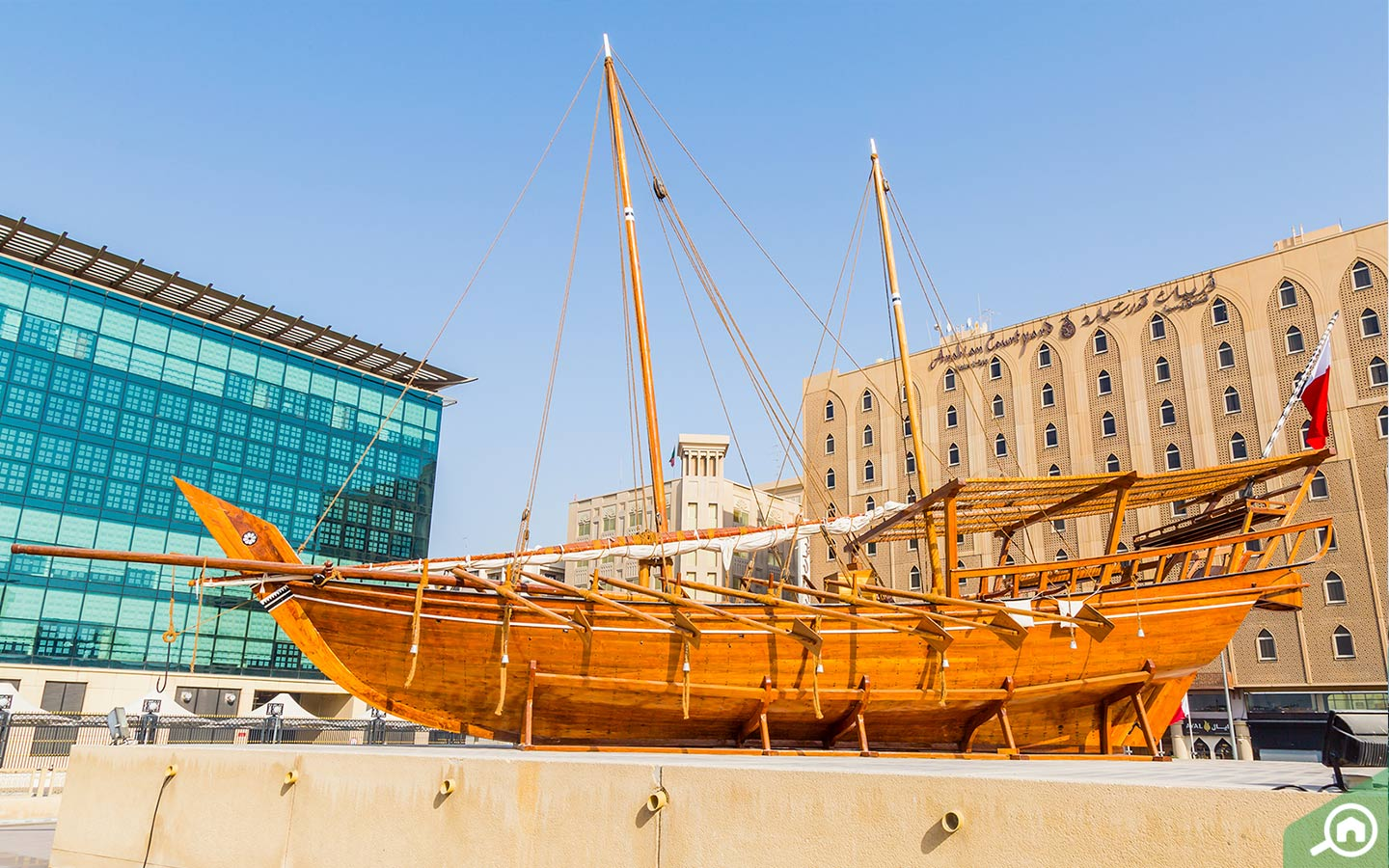 Traditional Arabian Dhow at the Dubai Museum